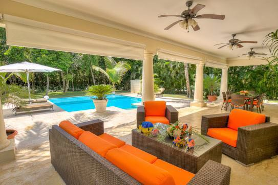 punta cana villa for rent ample terrace