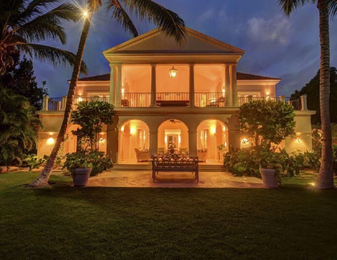 punta cana villa for rent front view