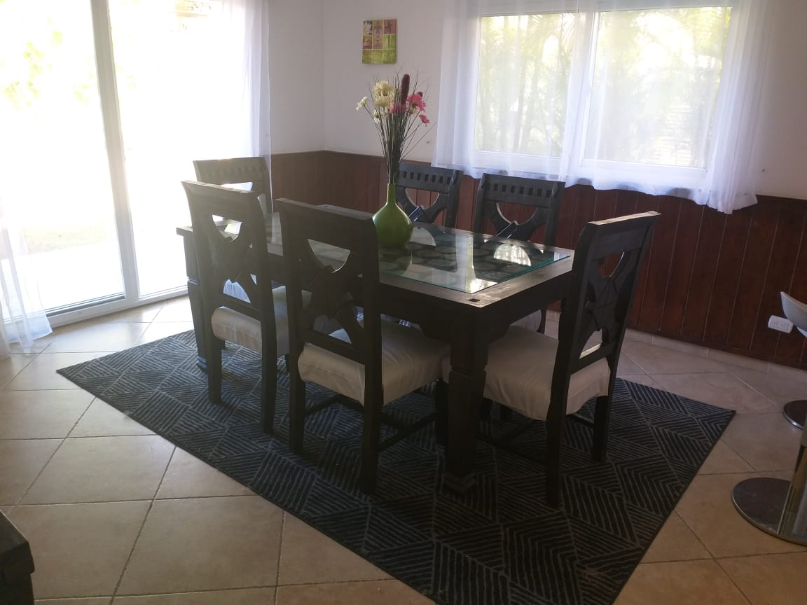 cocotal villa for rent dining room