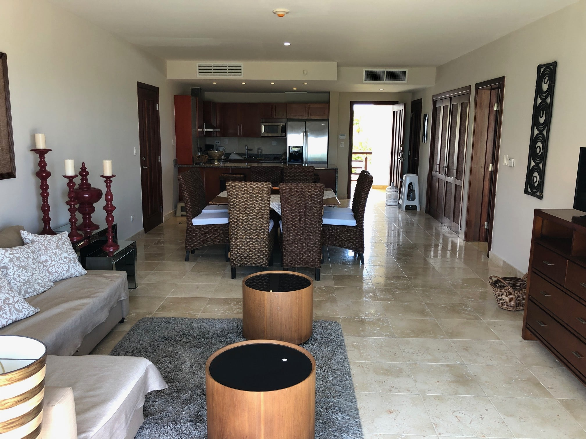 cap cana condo for rent living room