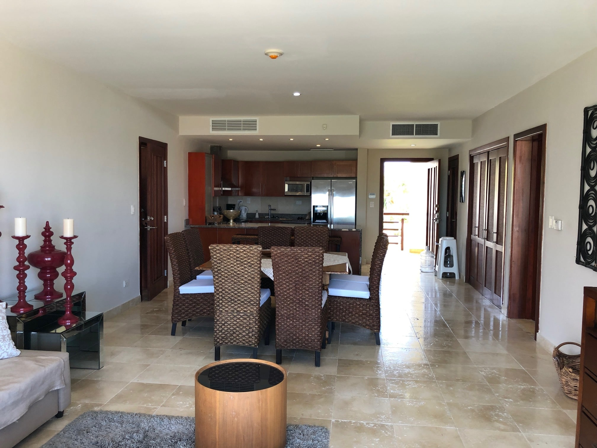 cap cana condo dining/living room