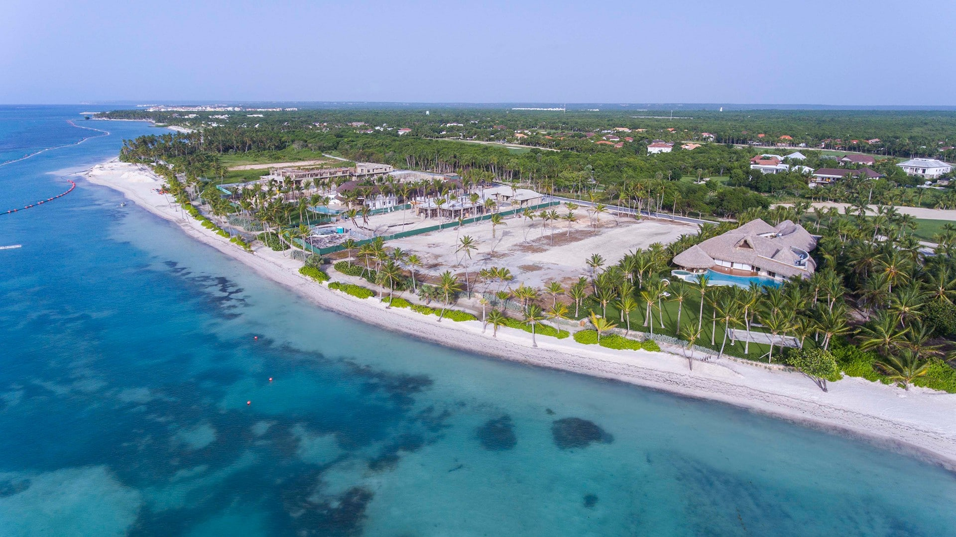 punta cana lots from above