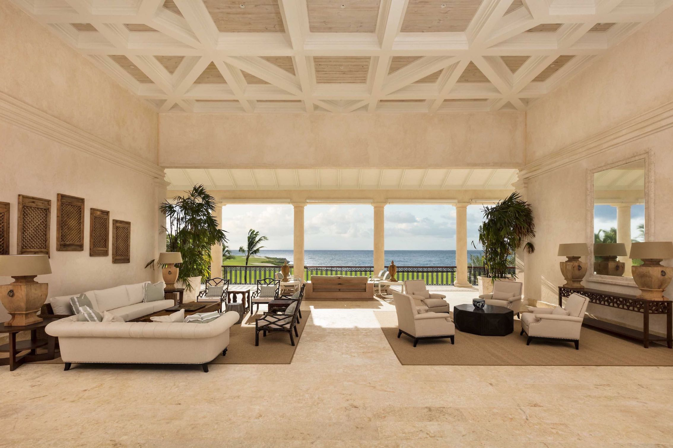 punta cana villa grand salon