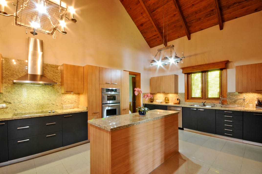 cap cana villa kitchen