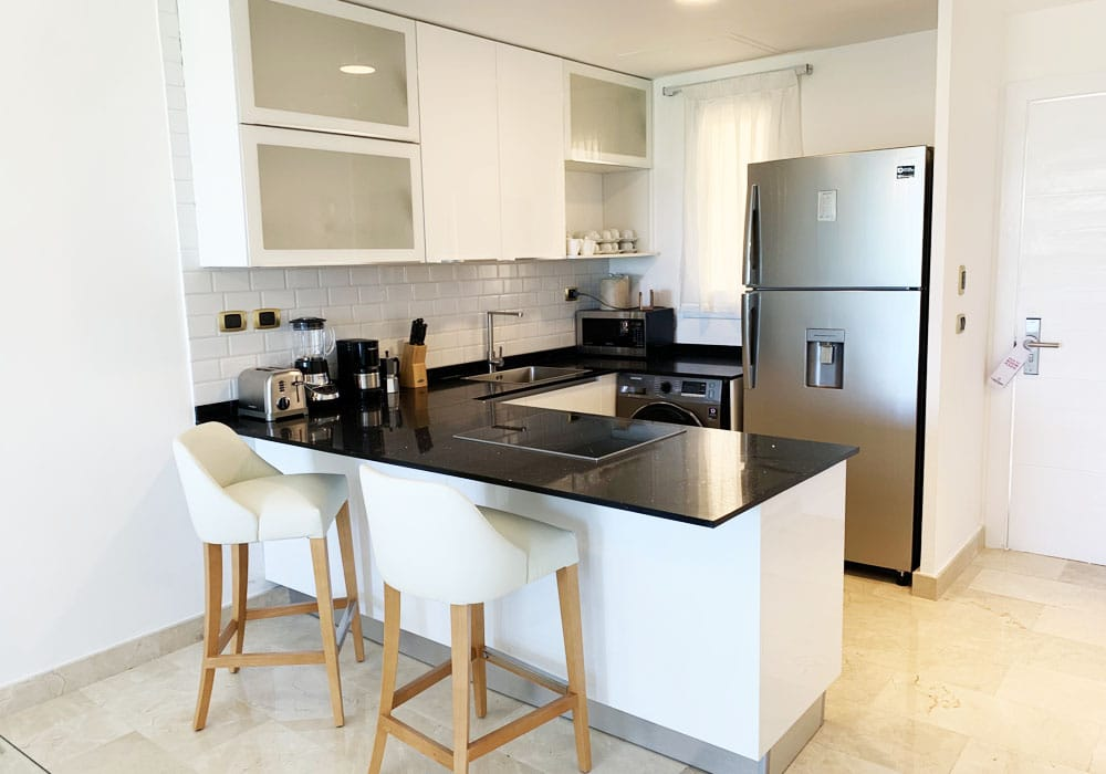 cana rock condos for rent kitchen