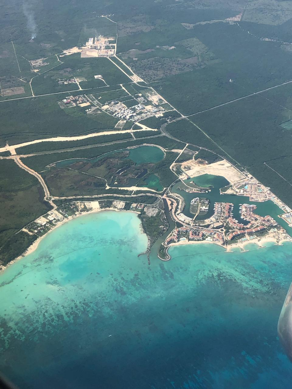 punta cana from the air
